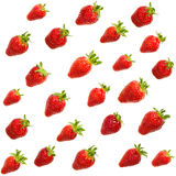 Seamless pattern of red strawberries Royalty Free Stock Photos