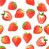 Seamless pattern with red strawberryes Royalty Free Stock Photography