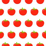 Seamless pattern with red tomatoes Stock Photography