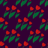 Seamless pattern with red tulips 2. Seamless pattern with red tulips on white background Royalty Free Stock Images
