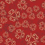 Seamless pattern on red. Vintage decorative elements. Hand drawn background Islamic, Arabic, Indian, Ottoman motifs. Perfect for printing on textile or Royalty Free Stock Photography