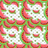 Seamless  pattern with red watermelon Stock Photography