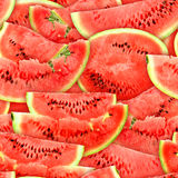Seamless pattern of red watermelons slices Stock Photography
