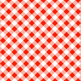 Seamless pattern of a red white plaid tablecloth. Vector illustration of a seamless pattern of a red white plaid tablecloth Royalty Free Stock Photo