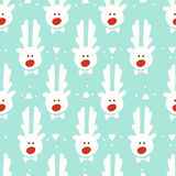 Seamless pattern. reindeer. christmas Stock Photo
