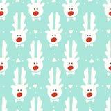 Seamless pattern. reindeer. christmas. Background design Stock Photo
