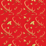 Seamless pattern with reindeers Royalty Free Stock Photos