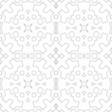 Seamless pattern for relaxation. Colouring book page. Moroccan tile retro motif stock illustration