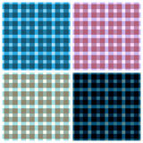 Seamless pattern reminded Scottish fabric.A set of four illustr Royalty Free Stock Images