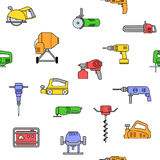 Seamless pattern of repair tool icons. Stock Photography