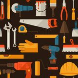 Seamless pattern with repair working tools icons Royalty Free Stock Images