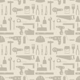 Seamless pattern with repair working tools icons Stock Image