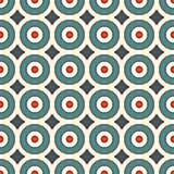 Seamless pattern with repeated circles. Geometric abstract background. Modern style texture. Blue and red colors seamless pattern with repeated circles Stock Photography