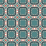 Seamless pattern with repeated geometric figures. Ornamental abstract background. Gems motif. Royalty Free Stock Photography