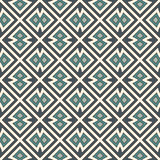 Seamless pattern with repeated geometric forms. Ornamental abstract background. Ethnic and tribal motifs. Digital paper, textile print, page fill. Vector art Royalty Free Stock Photo