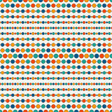 Seamless pattern with repeated horizontal lines and circles. Strings of beads motif. Hanging garland background. royalty free illustration