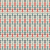 Seamless pattern with repeated hourglass. Ethic and tribal motif. Geometric abstract background. Stock Images