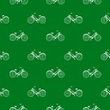 Seamless pattern with repeated images of bicycle Stock Photos
