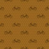 Seamless pattern with repeated images of bicycle Royalty Free Stock Images