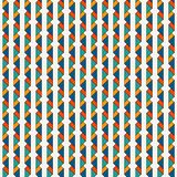Seamless pattern with repeated mini triangles. Contemporary geometric print with origami forms. Vertical spiked lines stock illustration