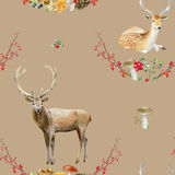 Seamless pattern repeated tile of watercolor animals Royalty Free Stock Image