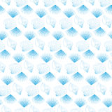 Seamless pattern with repeating blue sea shells Stock Photography
