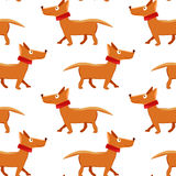 Seamless pattern with repeating dog on white background Royalty Free Stock Photo