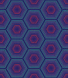 Seamless Pattern. Repeating geometric hexagons with color dotted lines. Vector Modern stylish texture vector illustration