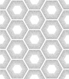 Seamless Pattern. Repeating geometric hexagons with dotted lines. Vector Modern stylish texture royalty free illustration