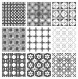 Seamless pattern, repeating geometric squares. Stock Image