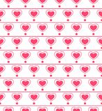 Seamless pattern with repeating hearts Stock Photo