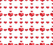 Seamless pattern with repeating hearts Royalty Free Stock Photo