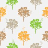 Seamless pattern, repeating illustration, decorative ornamental stylized endless trees. Abstract background, seamles graphi. C illustration Artistic line drawing royalty free illustration
