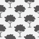 Seamless pattern,  repeating illustration, decorative ornamental stylized endless trees. Abstract background, seamles graphi. C illustration Artistic line Royalty Free Stock Photos