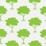 Seamless pattern, repeating illustration, decorative ornamental stylized endless trees. Abstract background, seamles graphi. C illustration Artistic line drawing vector illustration