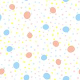 Seamless pattern with repeating round dots. Endless print for children. Cute vector illustration Royalty Free Stock Photo