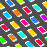 Seamless Pattern with Repeating Smart Phones Stock Images