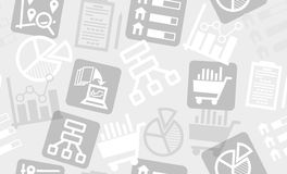 Seamless pattern from research and analytics icons. Stock Images