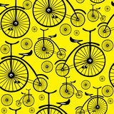 Seamless pattern retro bicycle Stock Image