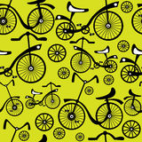 Seamless pattern retro  bicycle Royalty Free Stock Image