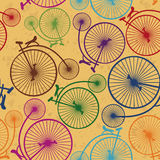 Seamless pattern of retro bicycles Royalty Free Stock Image