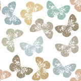 Seamless pattern with retro Butterfly and white background. Seamless pattern with Butterfly's and white background Stock Photo
