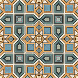 Seamless pattern retro ceramic tile design with floral ornate Royalty Free Stock Images