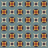Seamless pattern in retro colors Royalty Free Stock Images