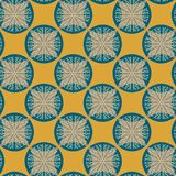 Seamless pattern in retro colors Royalty Free Stock Image