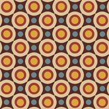 Seamless pattern in retro colors Royalty Free Stock Photos