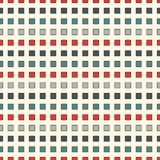 Seamless pattern with retro colors repeated squares. Horizontal dashed lines abstract background. Mosaic wallpaper. Minimalist geometric ornament. Digital Royalty Free Stock Photo