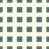 Seamless pattern with retro colors repeated squares. Minimalist geometric abstract background. Modern surface texture. Seamless pattern with retro colors Stock Photo
