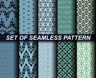 Seamless Pattern. 10 Retro different vector seamless patterns (tiling). Endless texture Stock Photos