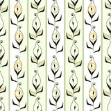Seamless pattern with retro floral calla texture Royalty Free Stock Photo